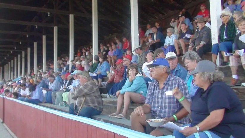A full grandstand at the Orleans County Fair in Barton, VT in 2016 | Debbie Little