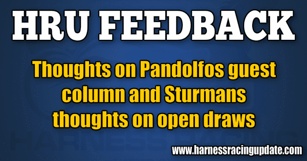 Thoughts on Pandolfo's guest column and Sturman's thoughts on open draws