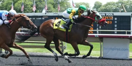 Coady Photography | Sperling's win on June 28 was the first for Chris Banks as a thoroughbred trainer.