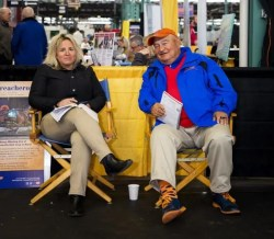 Triscari Video Web and Marketing | Dr. Bridgette Jablonsky and Murray Brown from Hanover Shoe Farms, which topped all consignors with more than $12 million in gross sales.