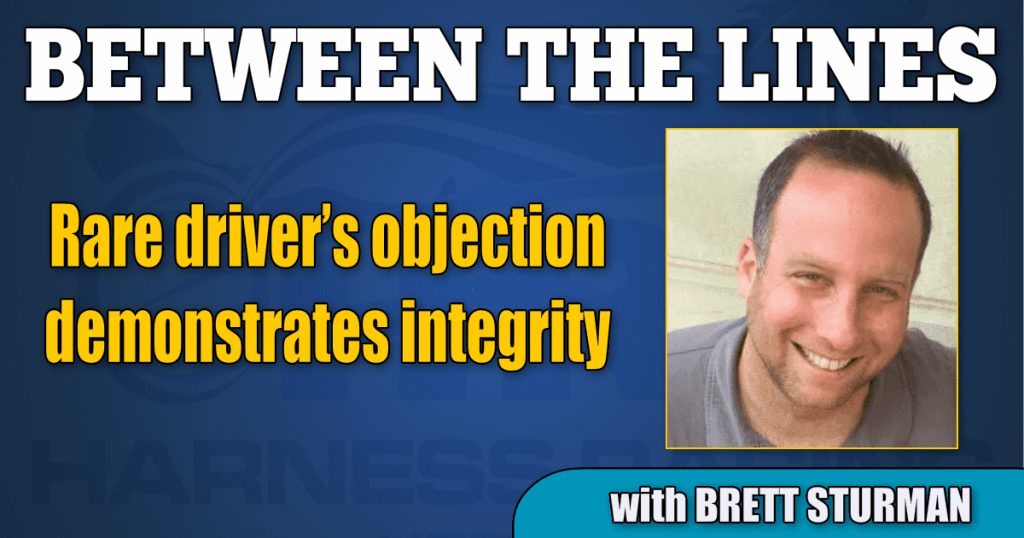 Rare driver's objection demonstrates integrity