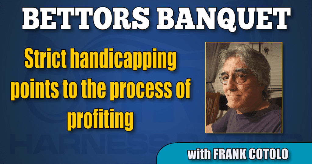 Strict handicapping points to the process of profiting