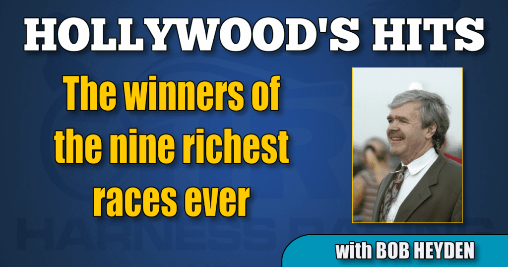 The winners of the nine richest races ever