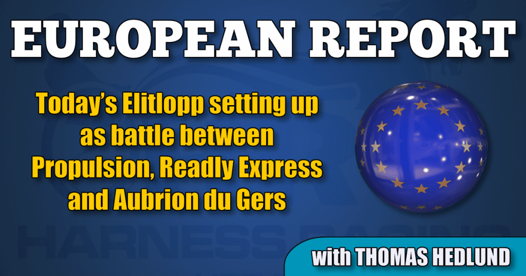 Today's Elitlopp setting up as battle between Propulsion, Readly Express and Aubrion du Gers