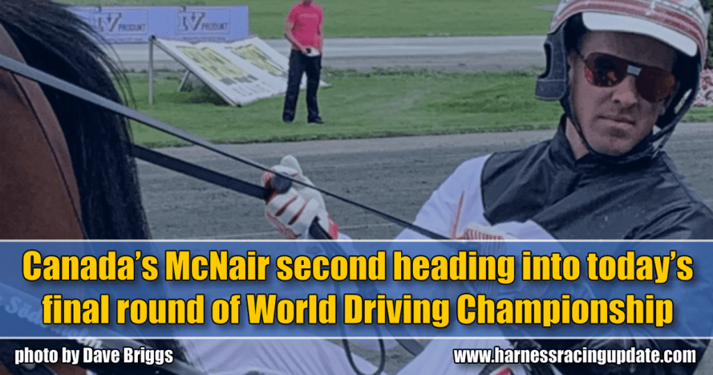 Canada's McNair second heading into today's final round of World Driving Championship
