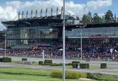 Dave Briggs | Despite mostly poor weather, there was still a strong crowd at Solvalla for Sunday's Elitlopp.