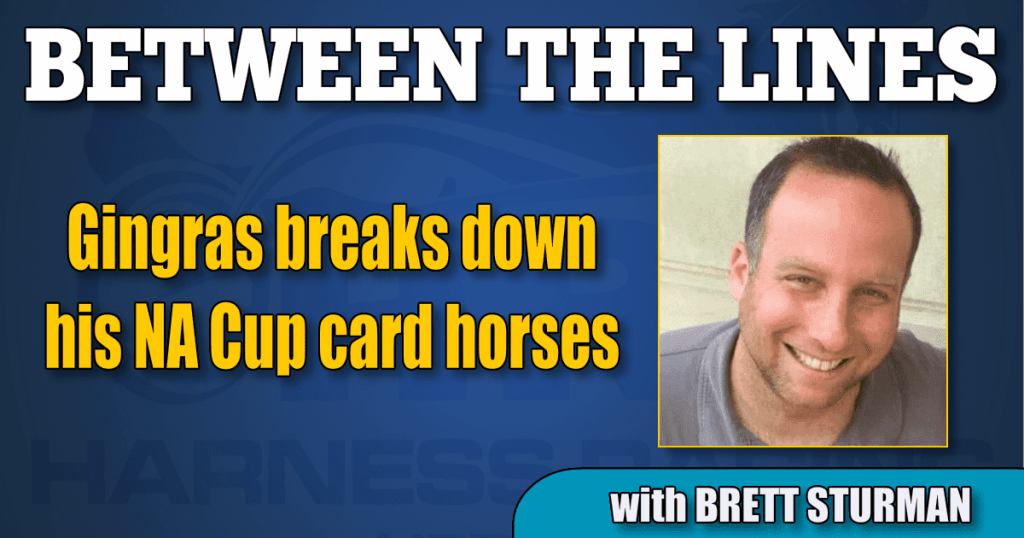 Gingras breaks down his NA Cup card horses