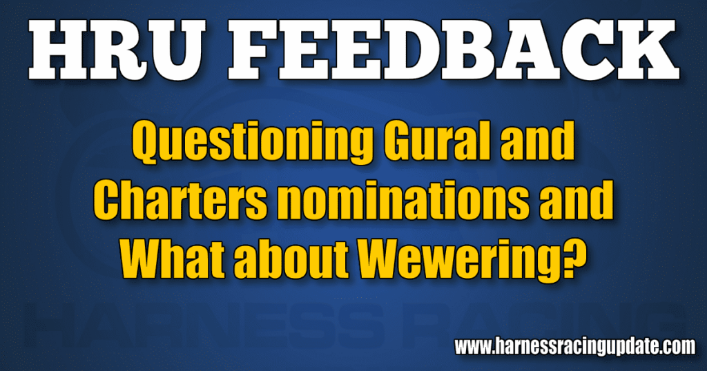 Questioning Gural and Charters nominations and What about Wewering?