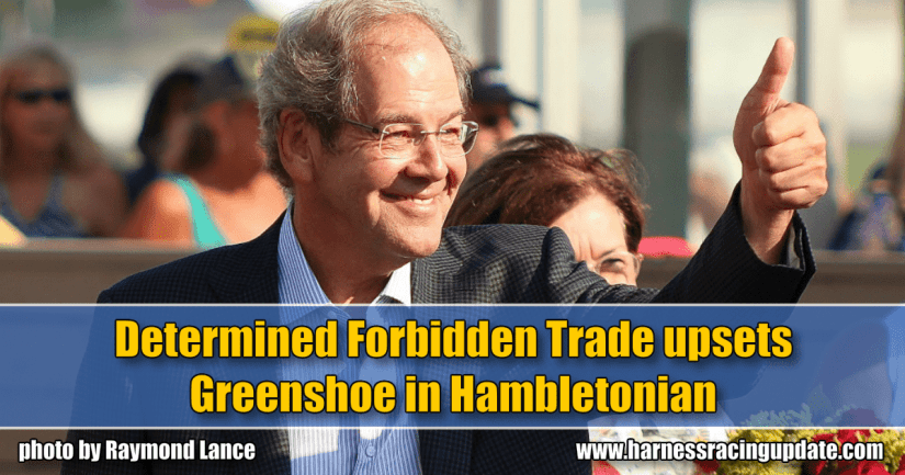 Determined Forbidden Trade upsets Greenshoe in Hambletonian