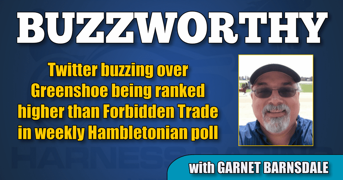 Twitter buzzing over Greenshoe being ranked higher than Forbidden Trade in weekly Hambletonian poll