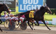 Raymond Lance   Forbidden Trade (McClure) fought off overwhelming favorite Greenshoe at the wire to win the 94th Hambletonian by a neck.