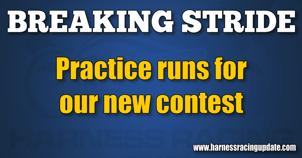 Practice runs for our new contest
