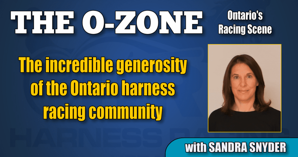 The incredible generosity of the Ontario harness racing community