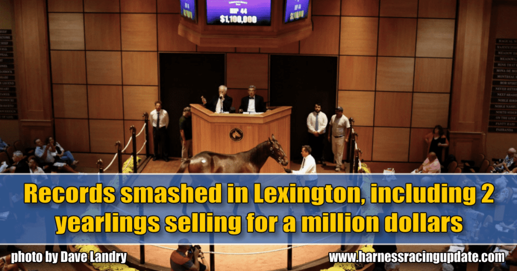 Records smashed in Lexington, including 2 yearlings selling for a million dollars