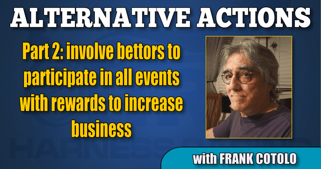 Part 2: involve bettors to participate in all events with rewards to increase business
