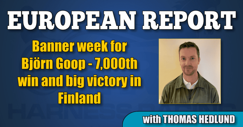Banner week for Björn Goop — 7,000th win and big victory in Finland