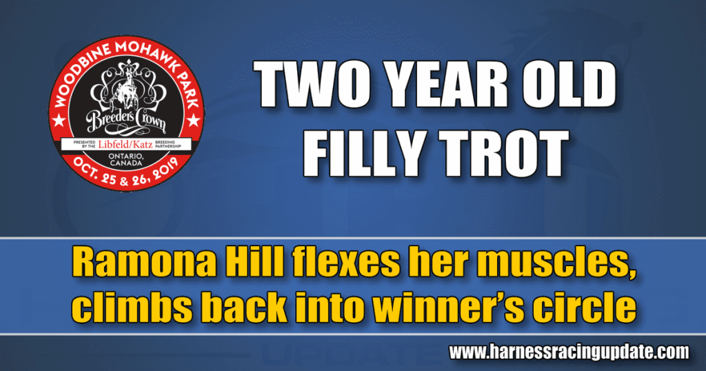 Ramona Hill flexes her muscles, climbs back into winner's circle