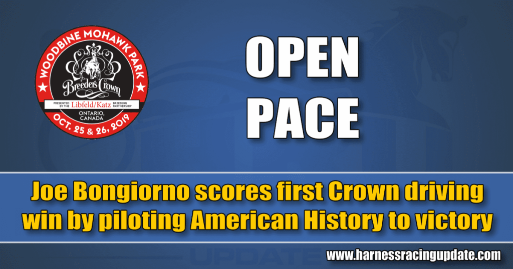 Joe Bongiorno scores first Crown driving win by piloting American History to victory