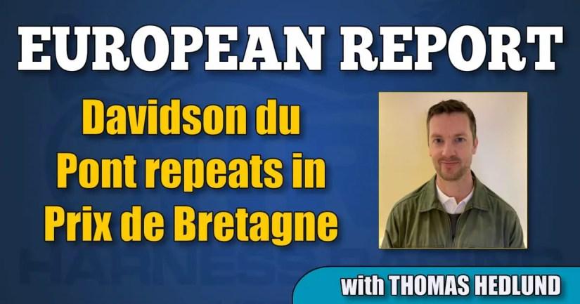 Davidson du Pont repeats in Prix de Bretagne