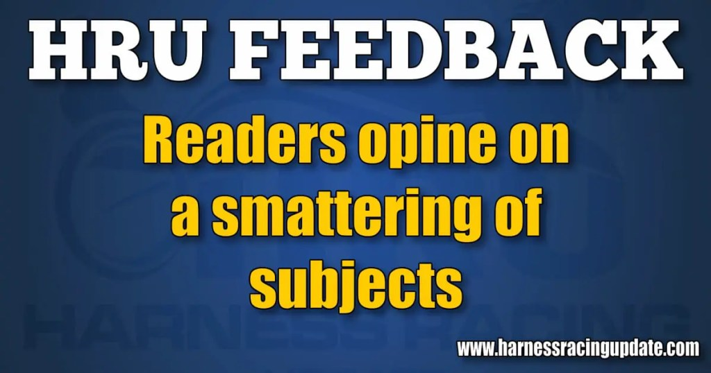 Readers opine on a smattering of subjects