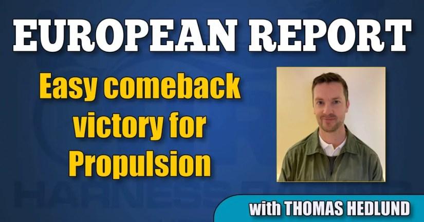 Easy comeback victory for Propulsion