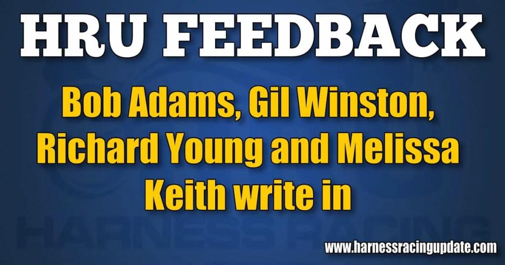 Bob Adams, Gil Winston, Richard Young and Melissa Keith write in