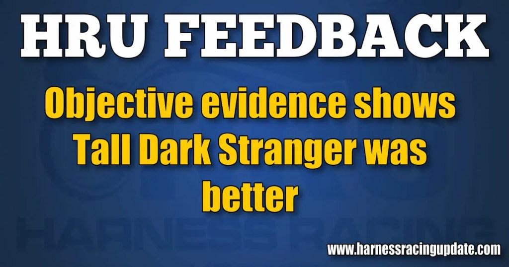 Objective evidence shows Tall Dark Stranger was better
