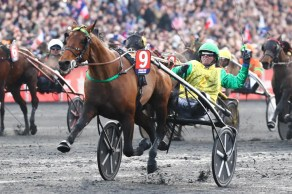 Gerard Forni   Five-year-old Face Time Bourbon and Swedish top driver Björn Goop were spectacular in winning the 100th edition of the Prix d'Ameriqué at Vincennes in Paris on Sunday afternoon.