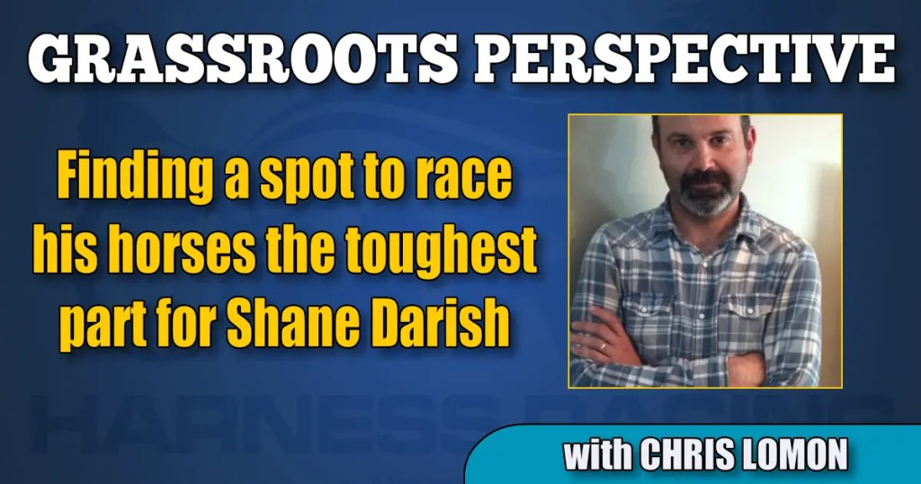 Finding a spot to race his horses the toughest part for Shane Darish