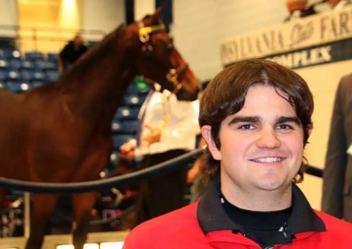 Courtesy Shane Darish | Shane Darish at Standardbred Horse Sales Company's sale in Harrisburg, PA.