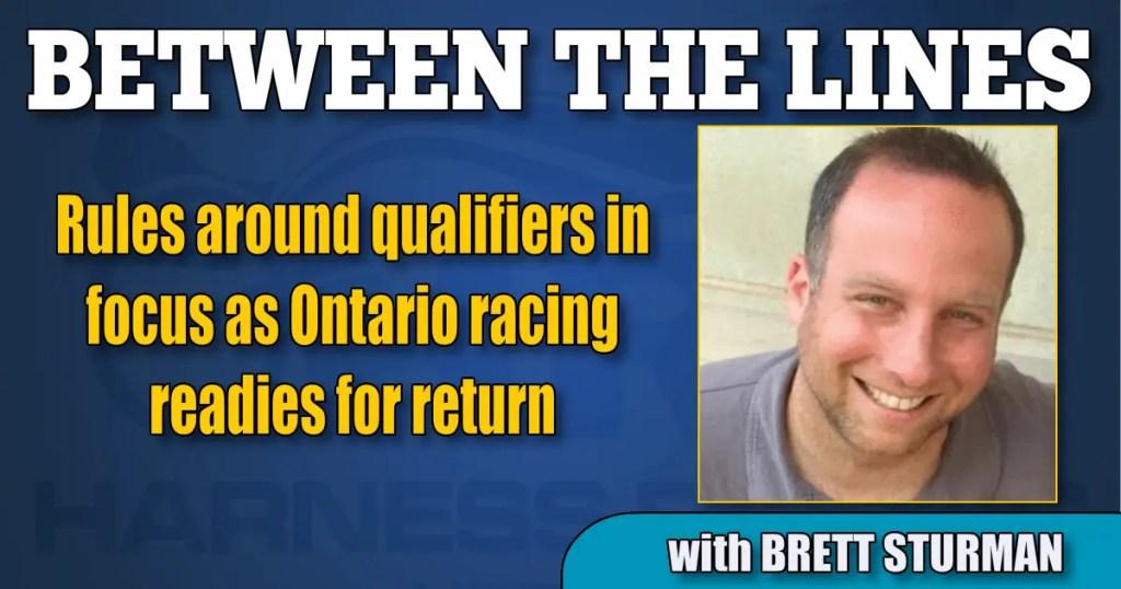 Rules around qualifiers in focus as Ontario racing readies for return