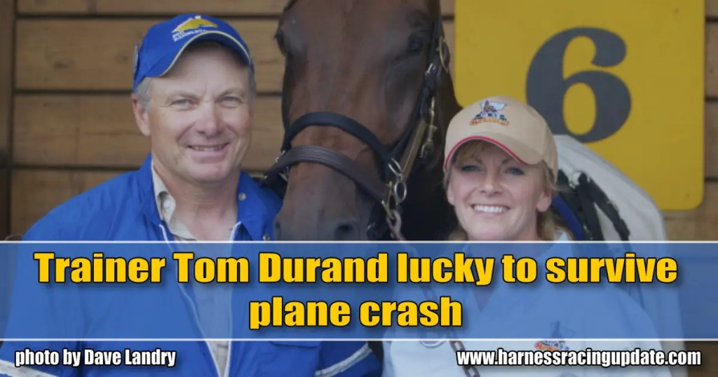 Trainer Tom Durand lucky to survive plane crash