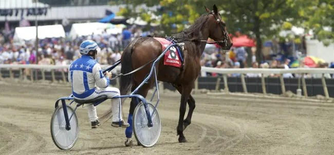 Dave Landry | Tom Durand, on the track with Whiskey Tax prior to the 2011 Hambletonian, said flying and horses are both in his blood.