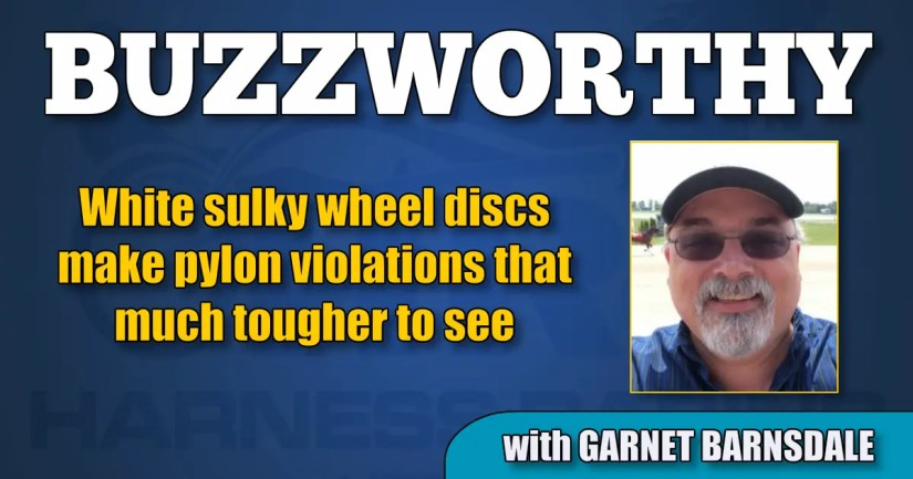 White sulky wheel discs make pylon violations that much tougher to see