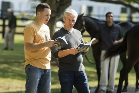 Dave Landry   Lachance and son Patrick scouting horses at the Lexington Selected Yearling Sale in 2016.