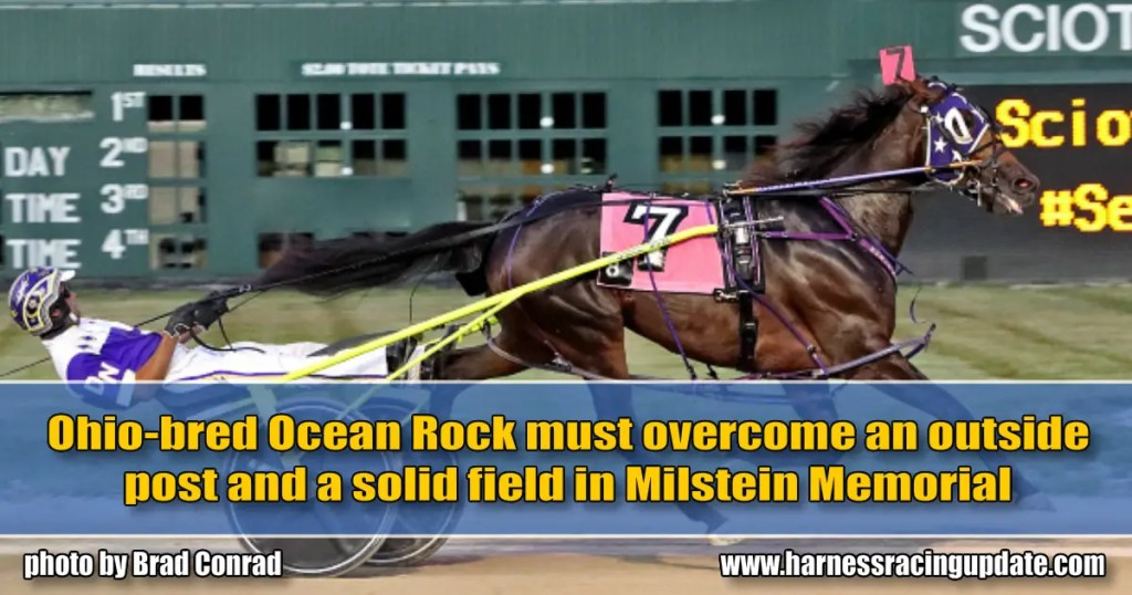 Ohio-bred Ocean Rock must overcome an outside post and a solid field in Milstein Memorial