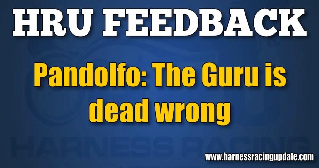 Pandolfo: The Guru is dead wrong