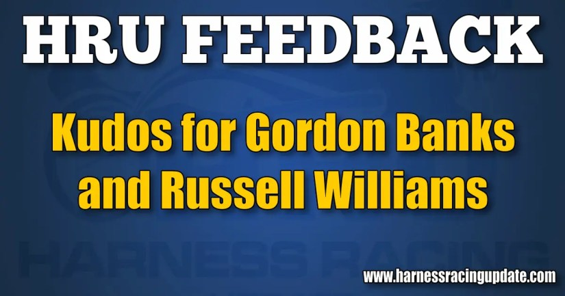 Kudos for Gordon Banks and Russell Williams