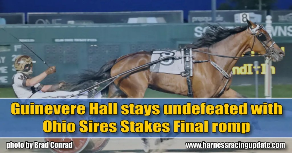 Guinevere Hall stays undefeated with Ohio Sires Stakes Final romp