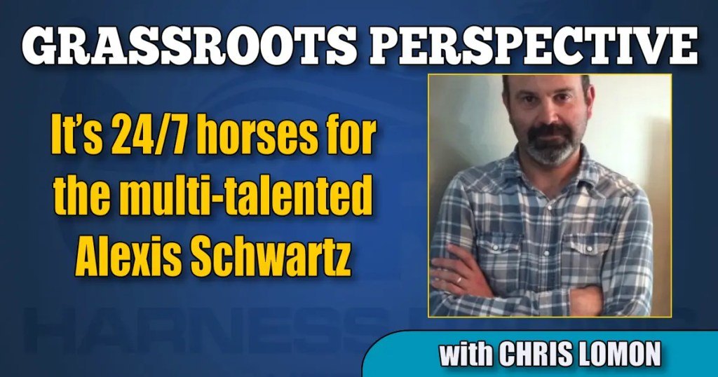 It's 24/7 horses for the multi-talented Alexis Schwartz