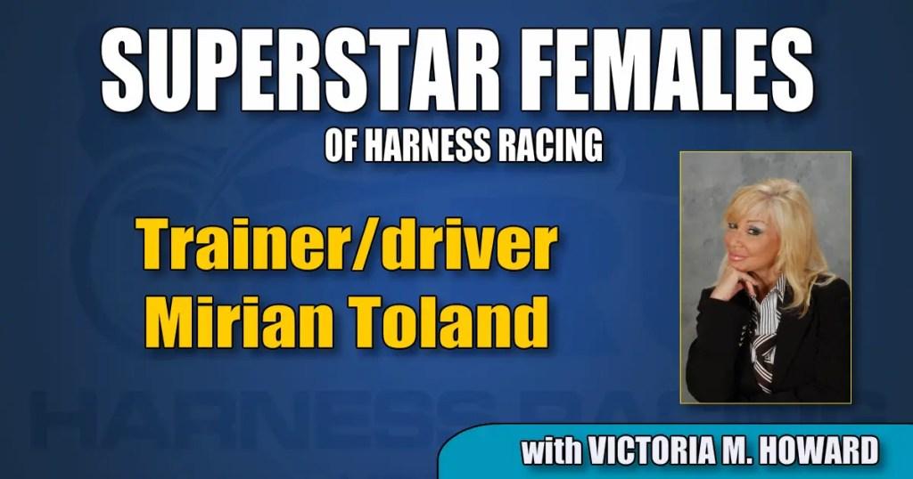 Trainer/driver Mirian Toland