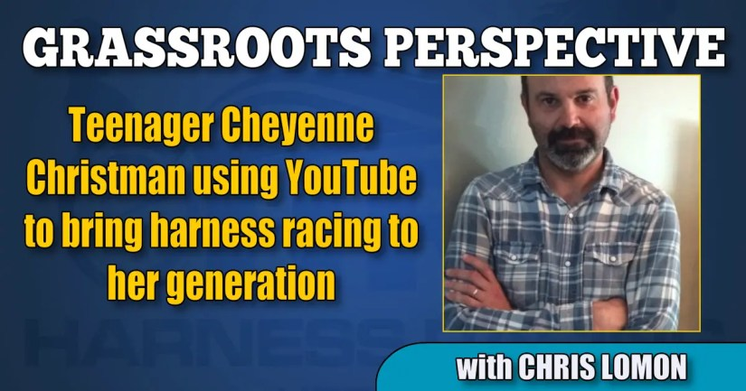 Teenager Cheyenne Christman using YouTube to bring harness racing to her generation