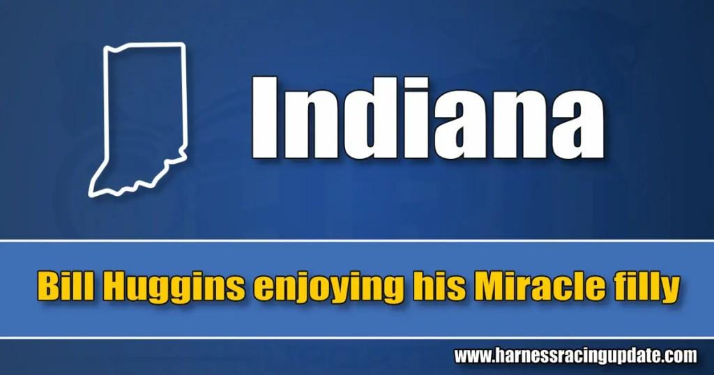 Bill Huggins enjoying his Miracle filly