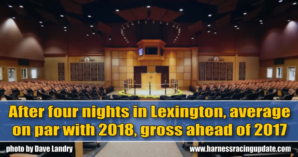 After four nights in Lexington, average on par with 2018, gross ahead of 2017
