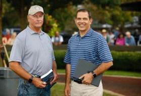 Dave Landry | Kentuckiana Farm's Bob Brady (left) and Ken Jackson.