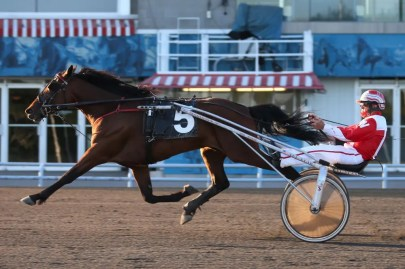 New Image Media | Paul Walker driving Pemberton to his first lifetime win at Woodbine Mohawk Park on June 16.