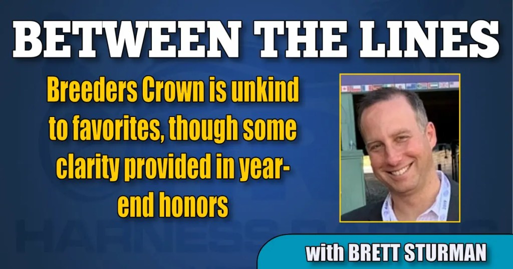 Breeders Crown is unkind to favorites, though some clarity provided in year-end honors