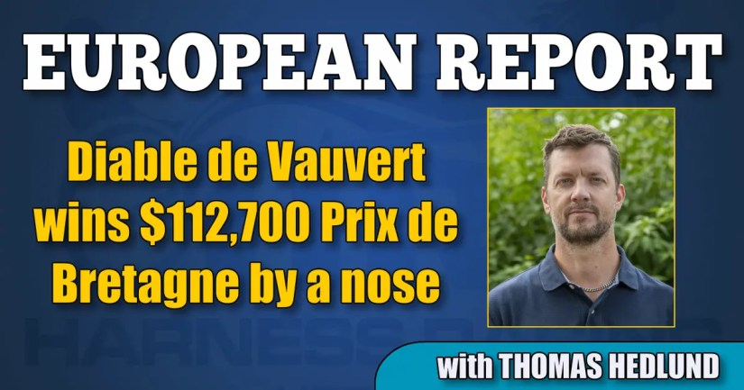 Diable de Vauvert wins $112,700 Prix de Bretagne by a nose