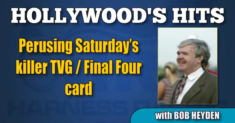 Perusing Saturday's killer TVG / Final Four card