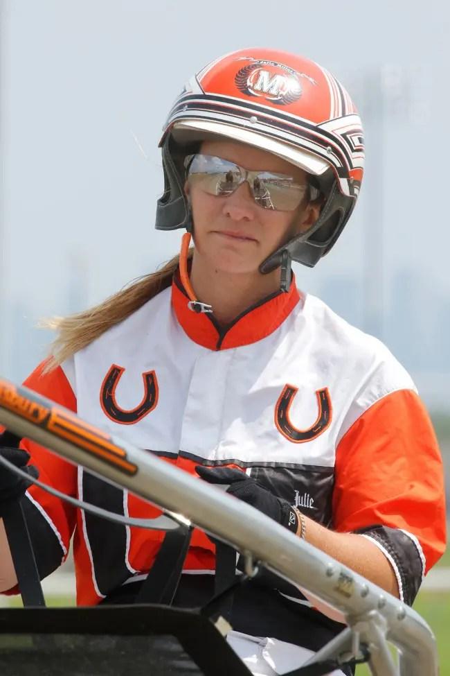 Dave Landry   Trainer Julie Miller.